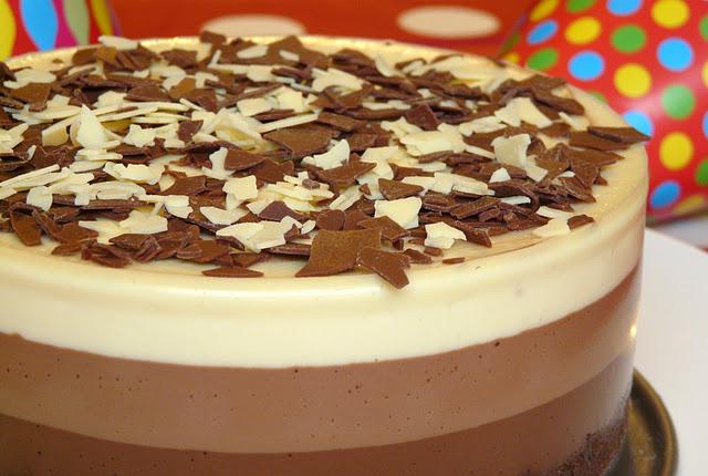 tarta tres chocolates, blog del chocolate